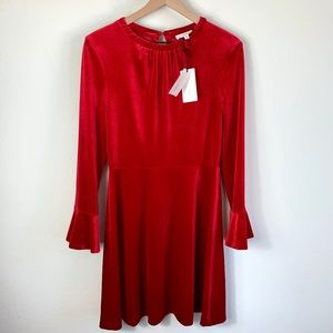 A LOVES A Dresses - $149 NWT Red Velvet Bell Sleeve Dress